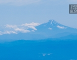 Fuji-san. View from airplain.
